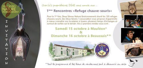 Invitation Premières Rencontres Refuges pour les chauves-souris des Deux-Sèvres !